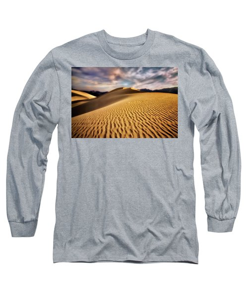 Textured Dunes  Long Sleeve T-Shirt by Nicki Frates