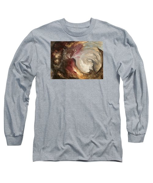 textured fluid acrylic original painting SACRED Long Sleeve T-Shirt