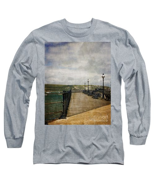 Long Sleeve T-Shirt featuring the photograph Textures On Swanage Pier by Linsey Williams