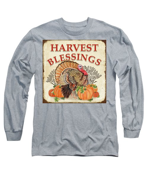 Long Sleeve T-Shirt featuring the painting Thanksgiving-e by Jean Plout