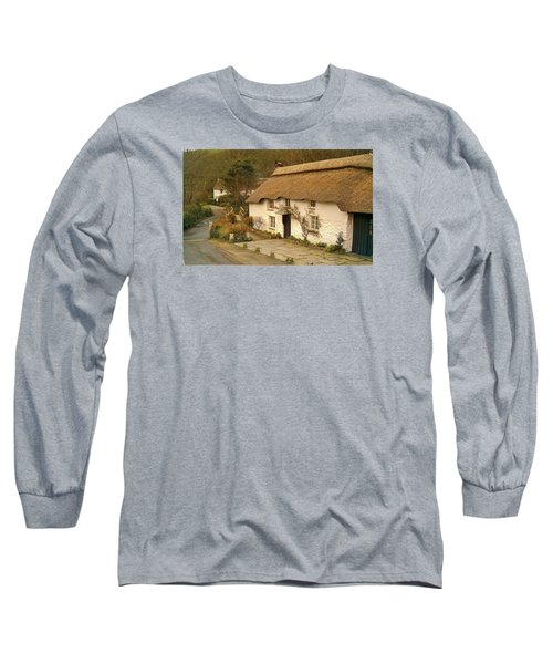 Thatched Cottage By Ford  Long Sleeve T-Shirt by Richard Brookes