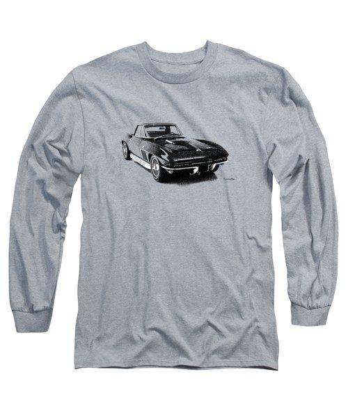 The 66 Vette Long Sleeve T-Shirt by Mark Rogan