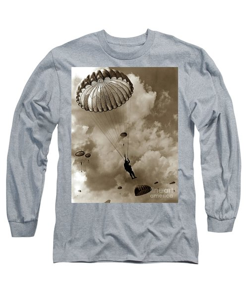 The 82nd Airborne  Hits The Silk Fort Ord 1953 Long Sleeve T-Shirt