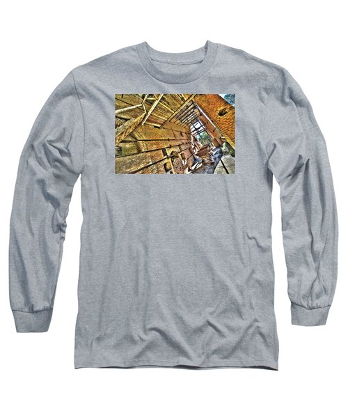 The Abandoned Furnace Quarry Building Long Sleeve T-Shirt