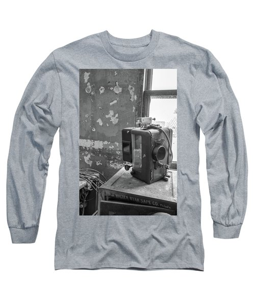 The Abandoned Projector Bw Long Sleeve T-Shirt