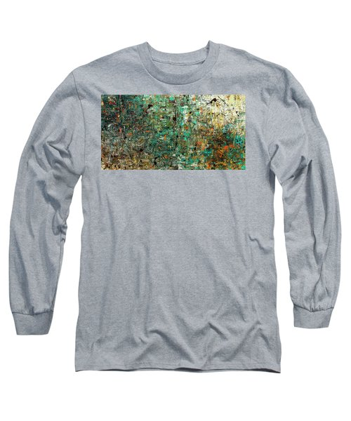 Long Sleeve T-Shirt featuring the painting The Abstract Concept by Carmen Guedez