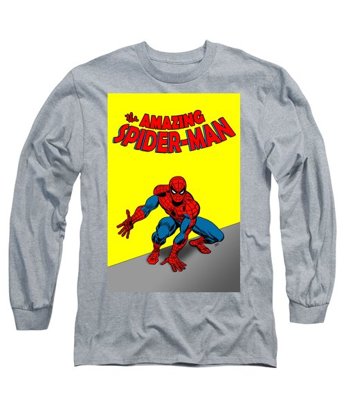 Long Sleeve T-Shirt featuring the painting The Amazing Spider-man by Antonio Romero