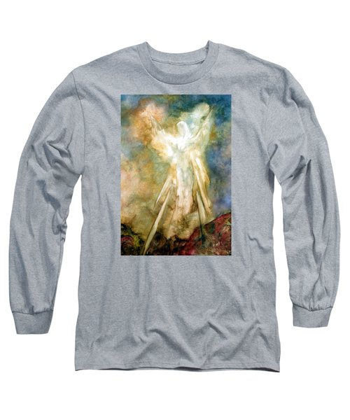 Long Sleeve T-Shirt featuring the painting The Appearance by Marina Petro