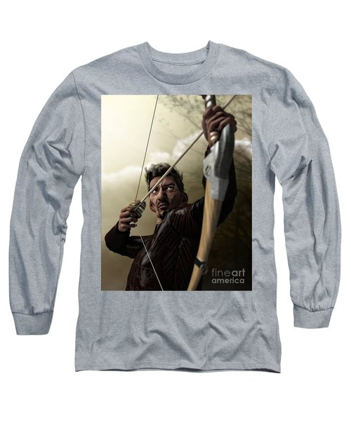 Long Sleeve T-Shirt featuring the digital art The Archer by Sandra Bauser Digital Art