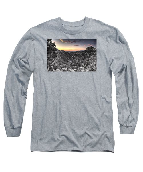 Long Sleeve T-Shirt featuring the digital art The Arkansas Through Royal Gorge by William Fields