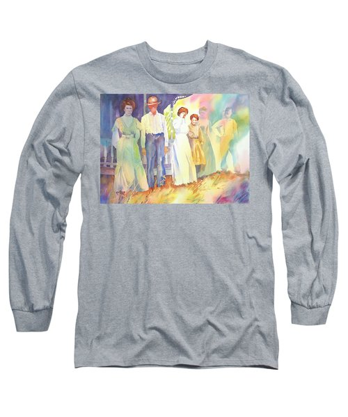 The Aunts Come Calling Long Sleeve T-Shirt by Tara Moorman