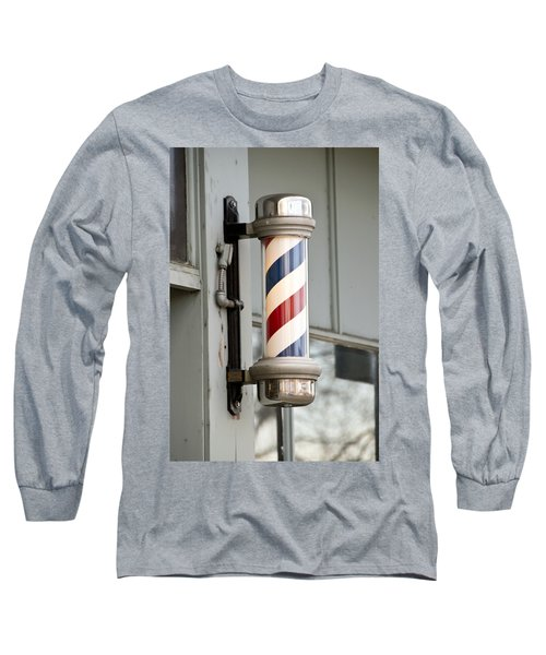The Barber Shop 4 Long Sleeve T-Shirt by Angelina Vick