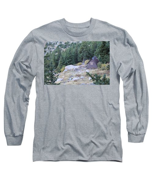 Long Sleeve T-Shirt featuring the photograph The Barr Trail A Frame by Christin Brodie