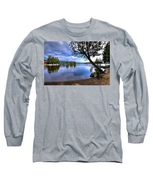 Long Sleeve T-Shirt featuring the photograph The Beach At Covewood Lodge by David Patterson