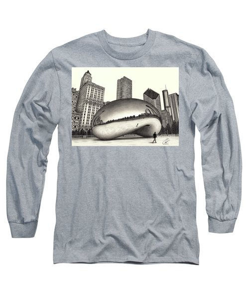 The Beach Chicago Drawing Long Sleeve T-Shirt