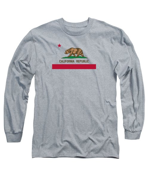 The Bear Flag - State Of California Long Sleeve T-Shirt by War Is Hell Store