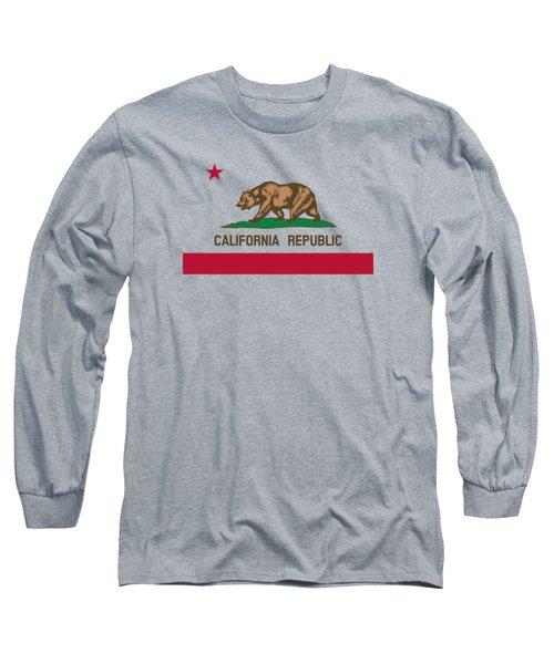 The Bear Flag - State Of California Long Sleeve T-Shirt