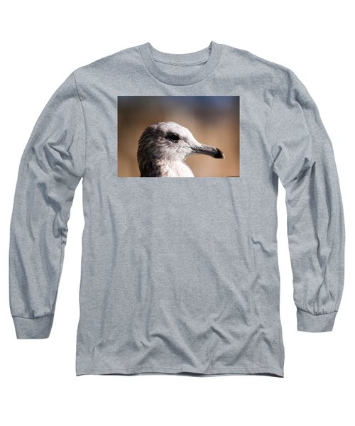 Long Sleeve T-Shirt featuring the photograph The Best Side Of The Gull by Lora Lee Chapman
