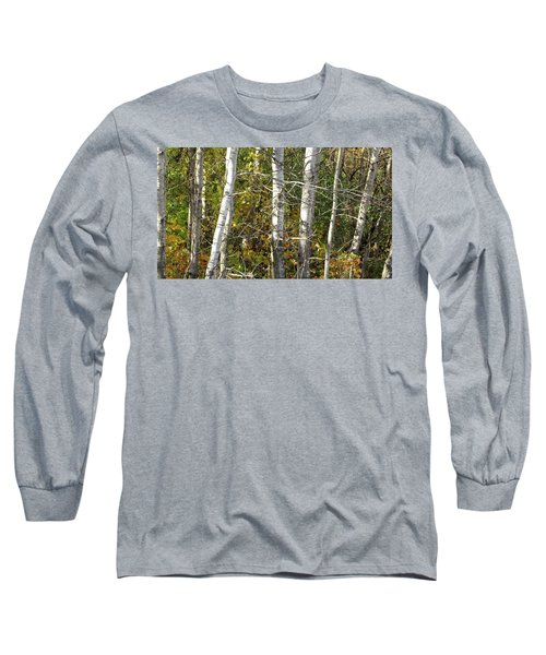 Long Sleeve T-Shirt featuring the photograph The Birches by Kimberly Mackowski