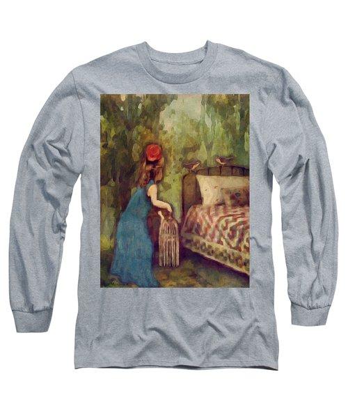 The Bird Catcher Long Sleeve T-Shirt by Lisa Noneman
