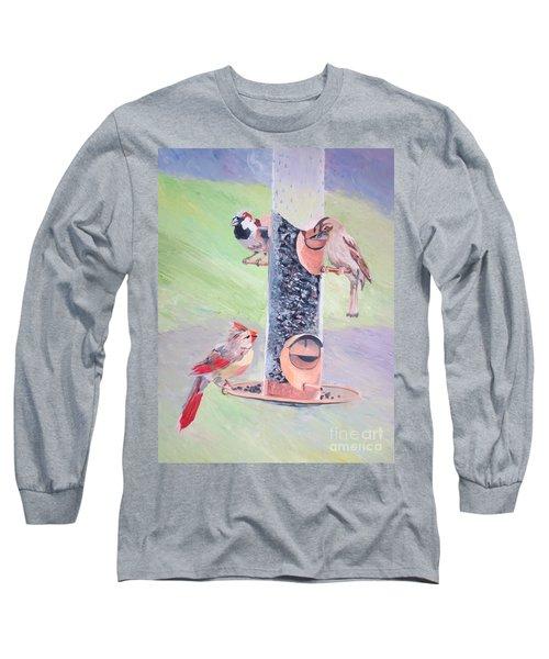 The Bird Feeder Long Sleeve T-Shirt