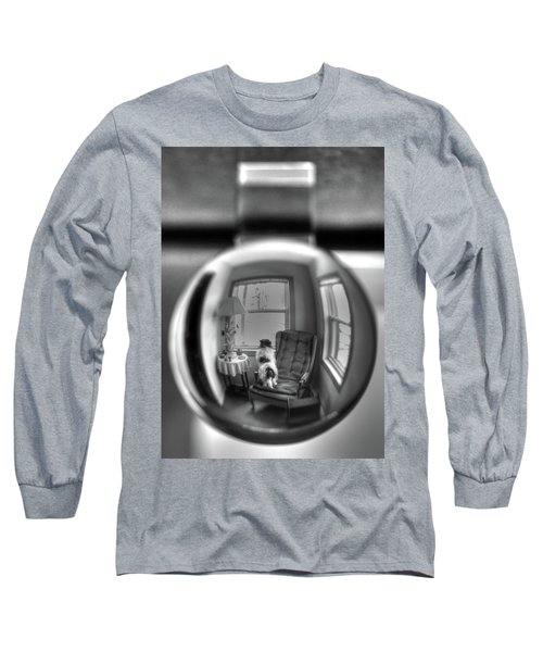 The Black And White Globe Dog Long Sleeve T-Shirt