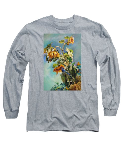 The Blue Jay Who Came To Breakfast Long Sleeve T-Shirt