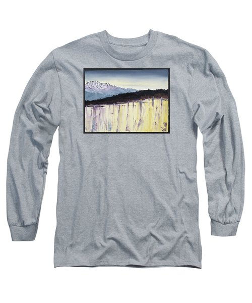 The Bluff And The Mountains Long Sleeve T-Shirt by Carolyn Doe