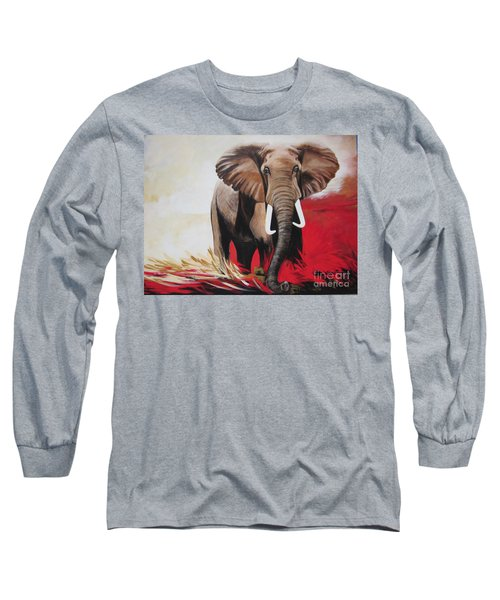 Bumper The  Bull Elephant  Long Sleeve T-Shirt