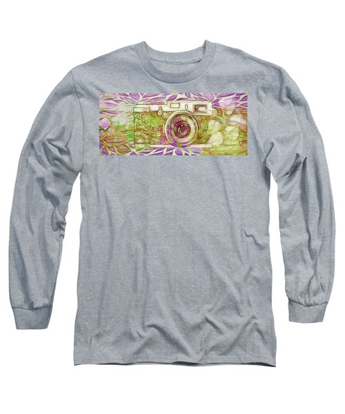 Long Sleeve T-Shirt featuring the digital art The Camera - 02c6t by Variance Collections