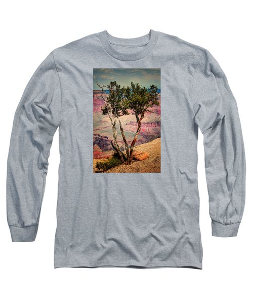 Long Sleeve T-Shirt featuring the photograph The Canyon Tree by Tom Prendergast