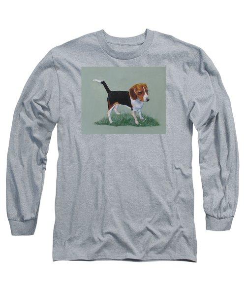 The Cautious Beagle Long Sleeve T-Shirt