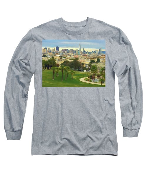 The City From Dolores Park Long Sleeve T-Shirt