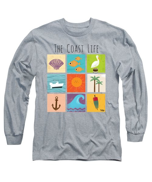 The Coast Life Long Sleeve T-Shirt by Kevin Putman