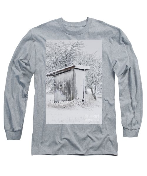 The Coldest Fifty Yard Dash Long Sleeve T-Shirt by Benanne Stiens