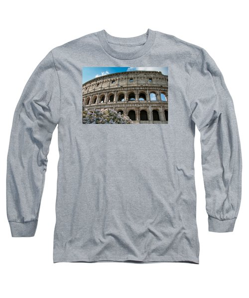 Long Sleeve T-Shirt featuring the photograph The Coliseum In Rome by Kathleen Scanlan