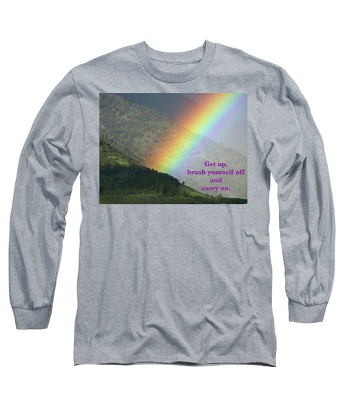 Long Sleeve T-Shirt featuring the photograph The Colors Of The Rainbow Carry On by DeeLon Merritt