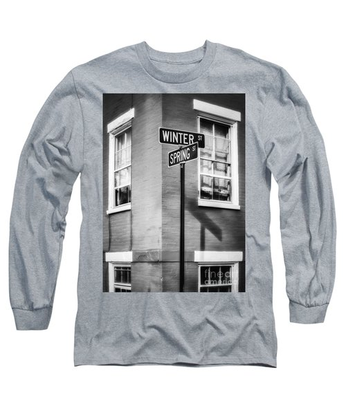 The Corner Of Winter And Spring Bw Long Sleeve T-Shirt