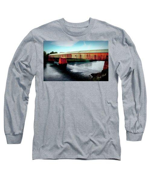 The Cornish-windsor Covered Bridge  Long Sleeve T-Shirt