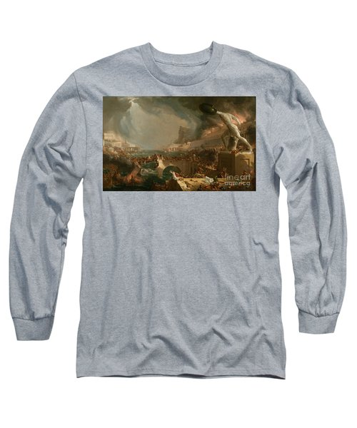The Course Of Empire Destruction Long Sleeve T-Shirt