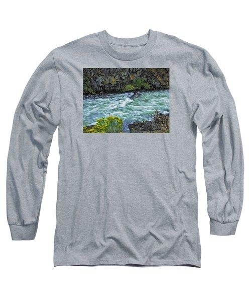 The Deschutes River At Dillon Falls Long Sleeve T-Shirt