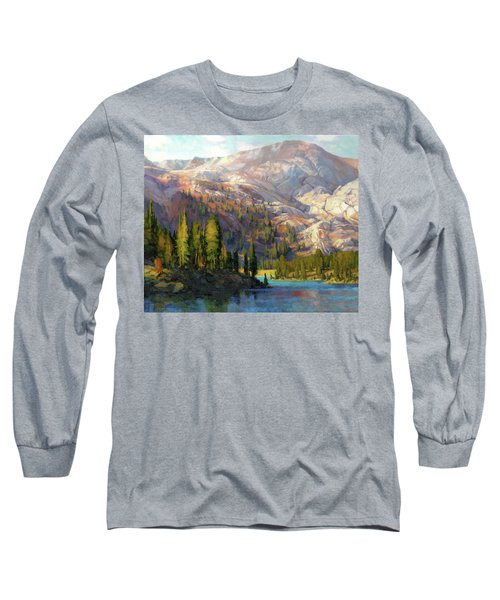 Long Sleeve T-Shirt featuring the painting The Divide by Steve Henderson