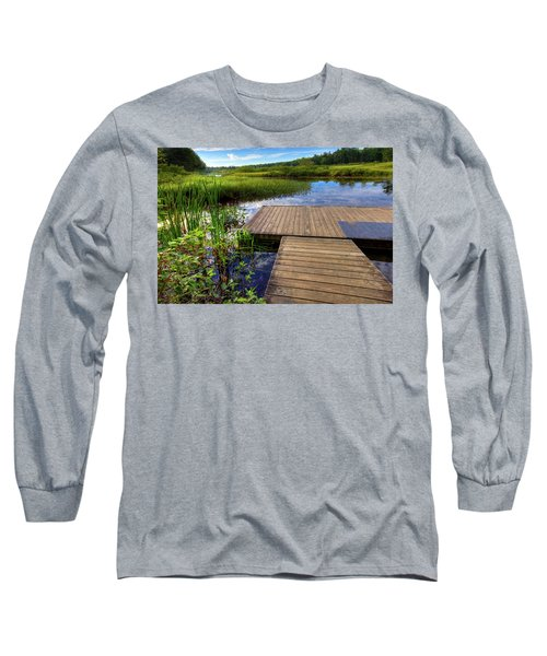 The Dock At Mountainman Long Sleeve T-Shirt by David Patterson