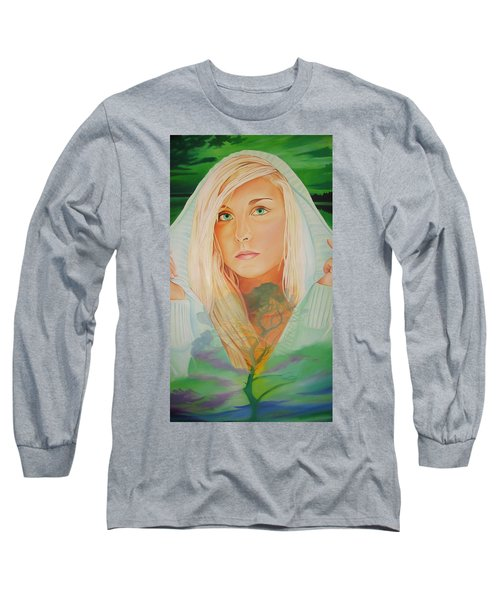 Long Sleeve T-Shirt featuring the painting The Dreaming Tree by Joshua Morton