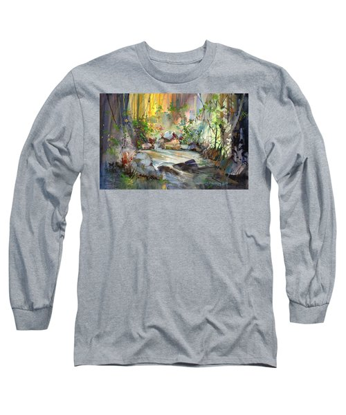 The Enchanted Pool Long Sleeve T-Shirt by P Anthony Visco