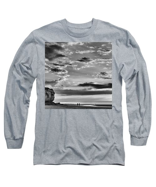 The End Of The Day, Old Hunstanton  Long Sleeve T-Shirt by John Edwards