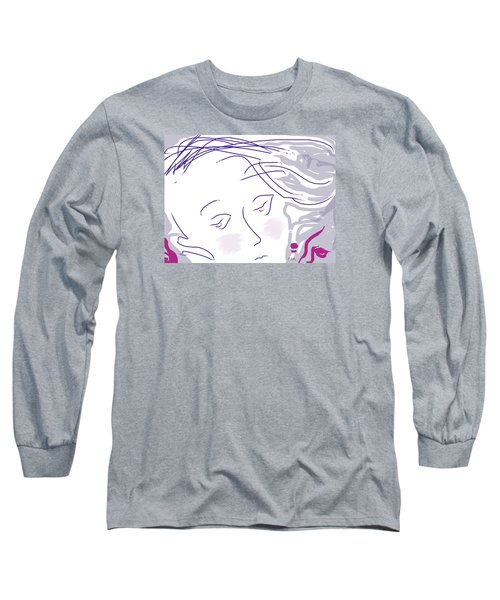 The Face Long Sleeve T-Shirt by Mary Armstrong