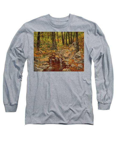 Long Sleeve T-Shirt featuring the painting The Fall Stream by Roena King