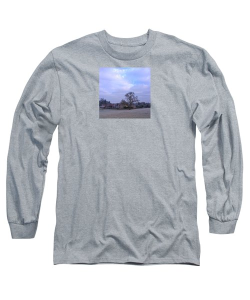 The Farm In Winter Long Sleeve T-Shirt by Anne Kotan