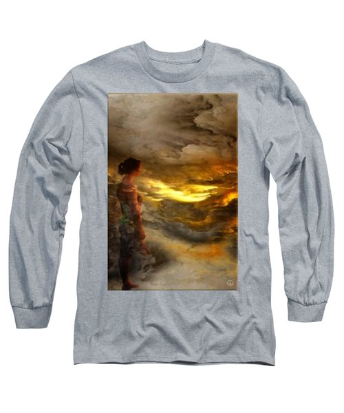 Long Sleeve T-Shirt featuring the digital art The First Step by Gun Legler